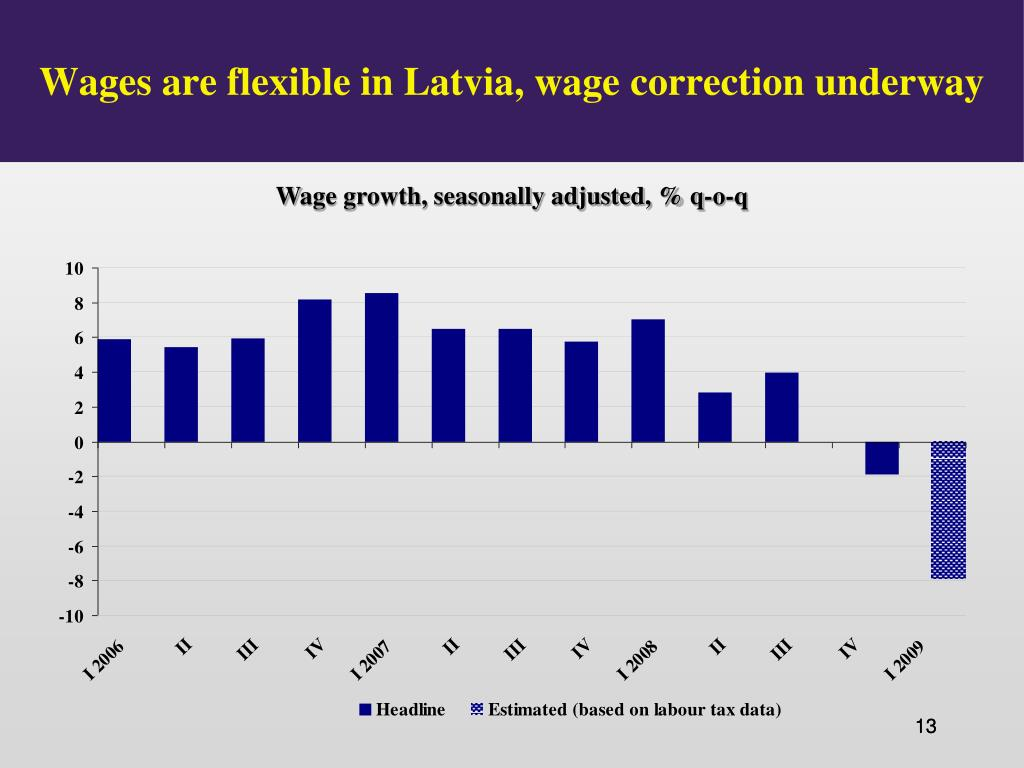 Wages are flexible in Latvia, wage correction underway