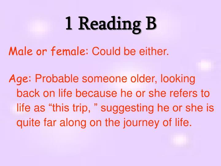 1 Reading B