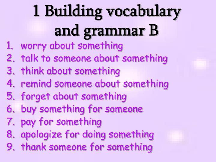 1 Building vocabulary