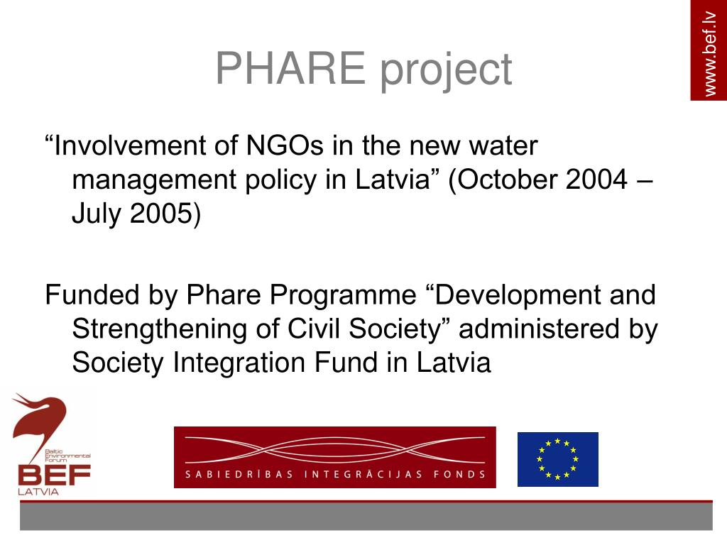 PHARE project
