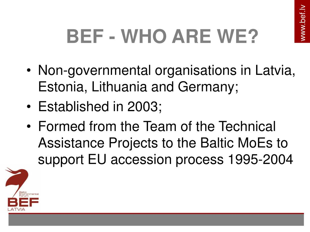 BEF - WHO ARE WE?