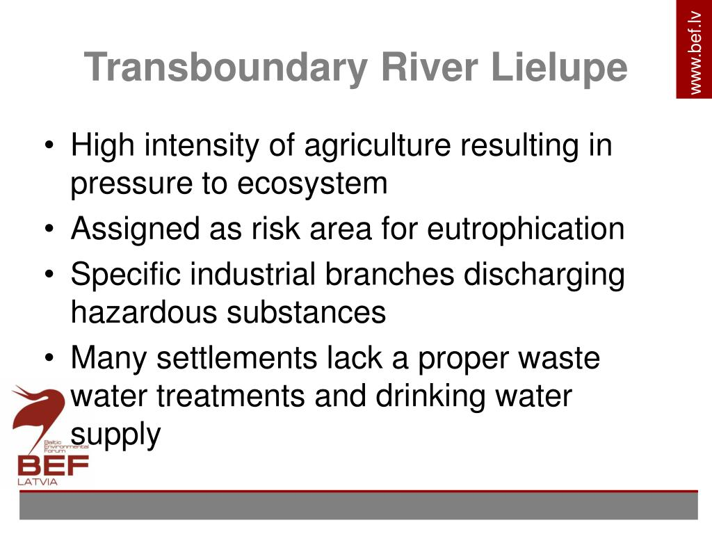 Transboundary River Lielupe
