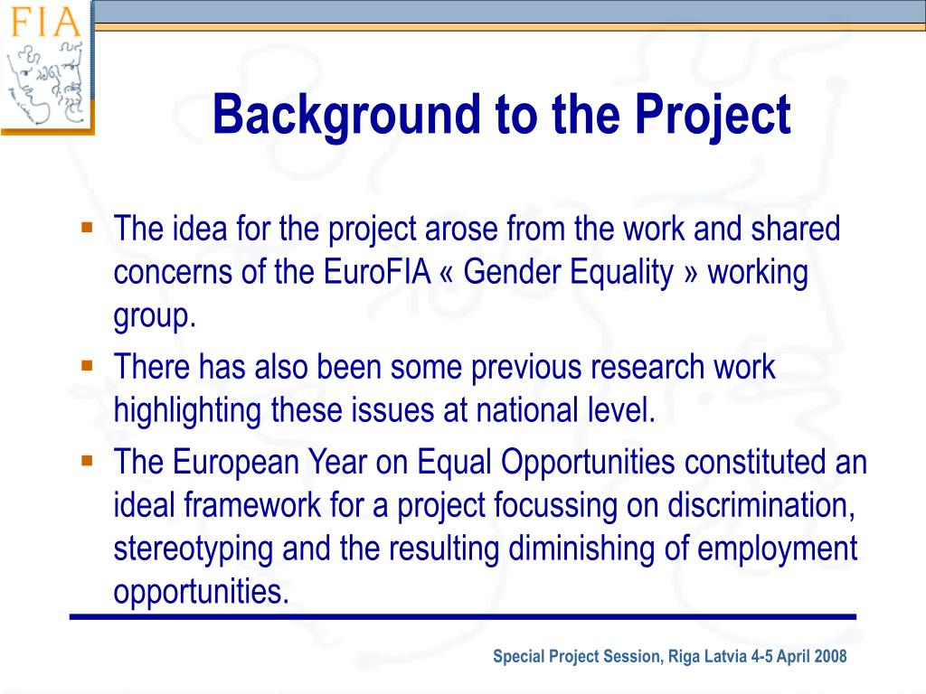Background to the Project