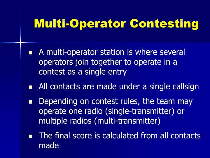 Multi-Operator Contesting