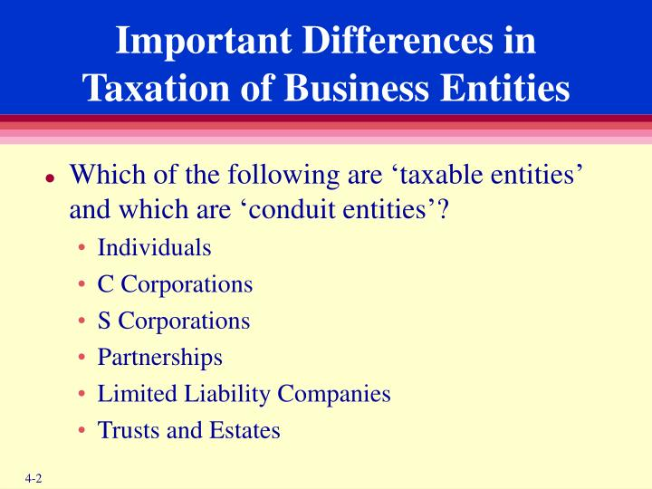 Important Differences in Taxation of Business Entities