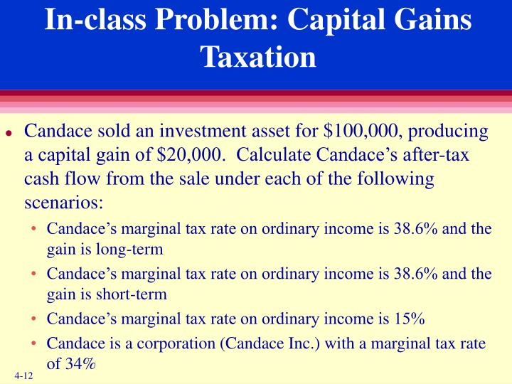 In-class Problem: Capital Gains Taxation