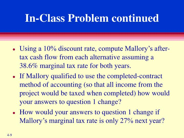 In-Class Problem continued