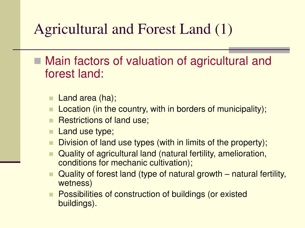 Agricultural and Forest Land (1)