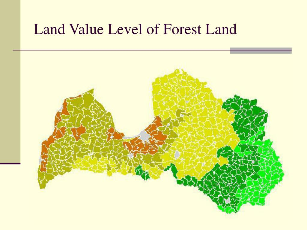 Land Value Level of Forest Land