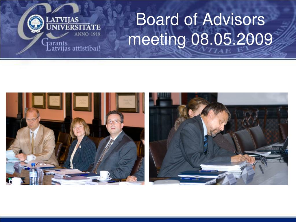 Board of Advisors meeting 08.05.2009