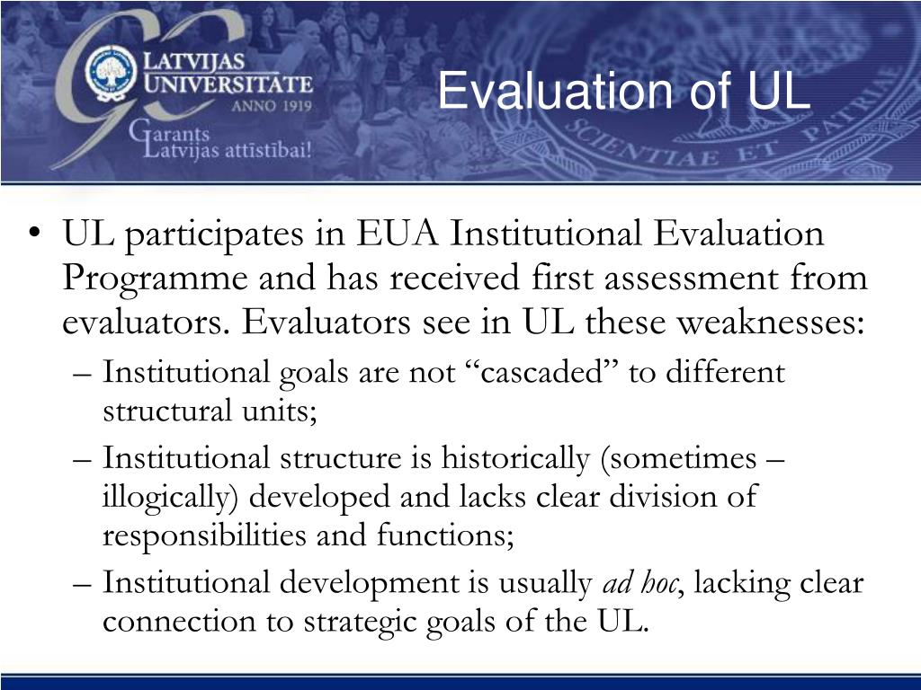 Evaluation of UL