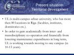 present situation territorial development