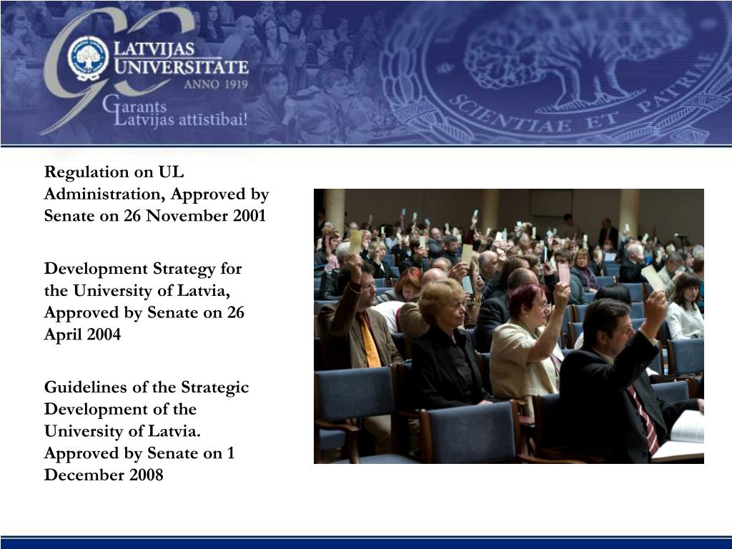 Regulation on UL Administration, Approved by Senate on 26 November 2001