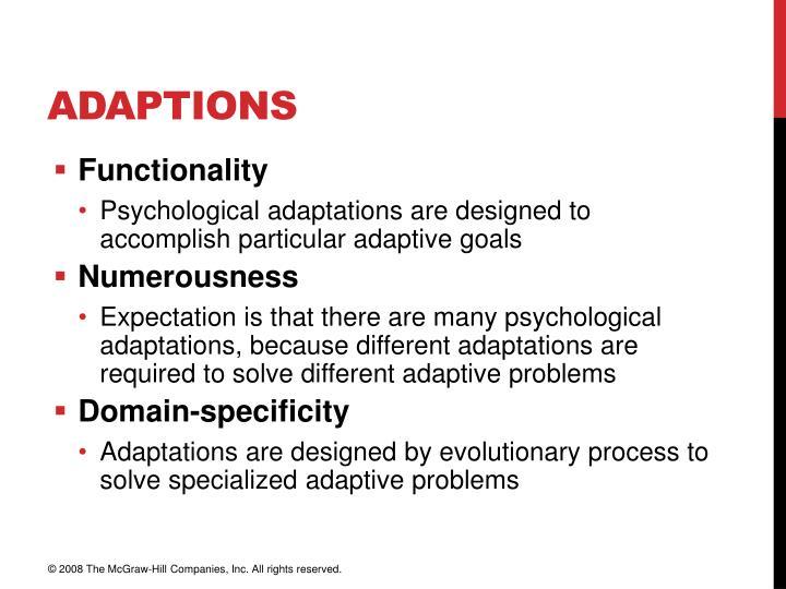 Adaptions