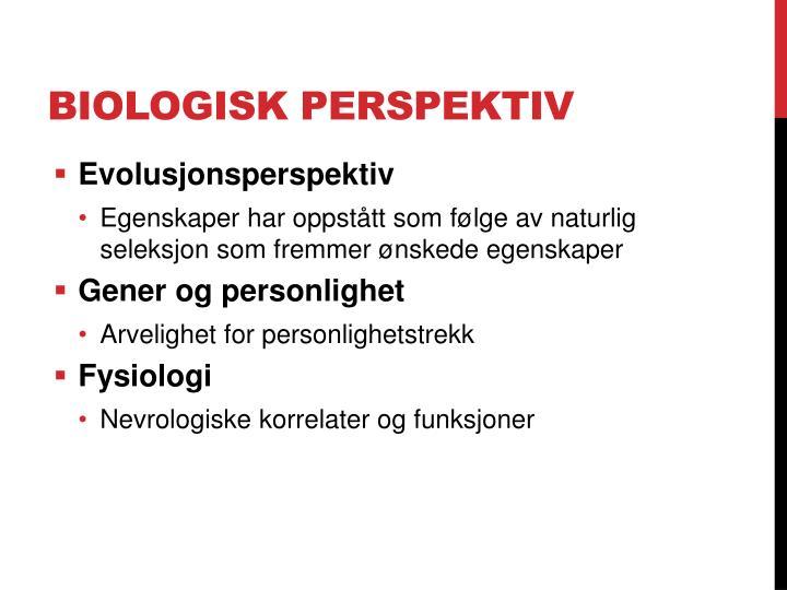 Biologisk perspektiv