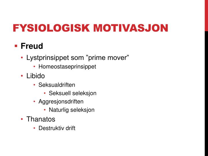 Fysiologisk motivasjon