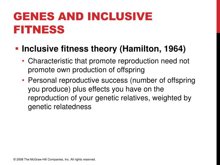 Genes and Inclusive Fitness