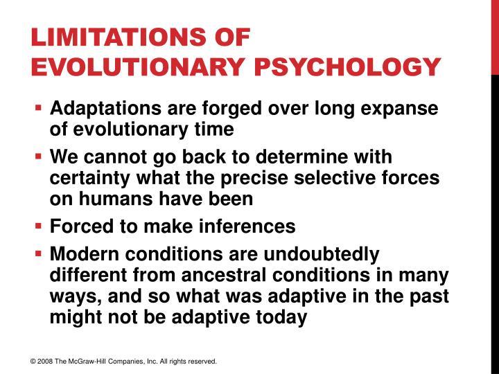 Limitations of Evolutionary Psychology