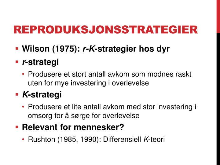 Reproduksjonsstrategier