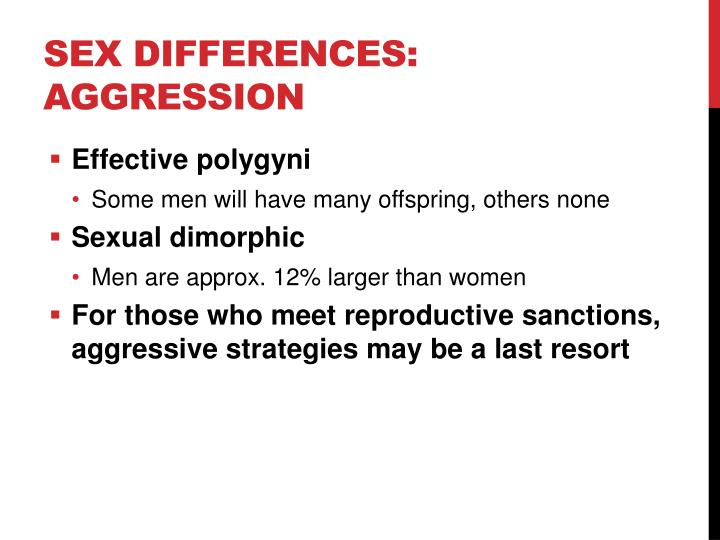 Sex Differences: Aggression