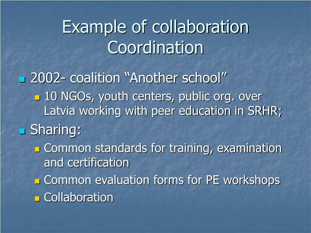 Example of collaboration