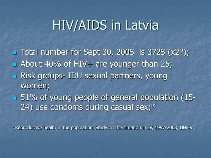 Hiv aids in latvia