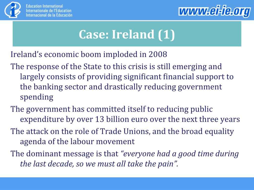 Case: Ireland (1)