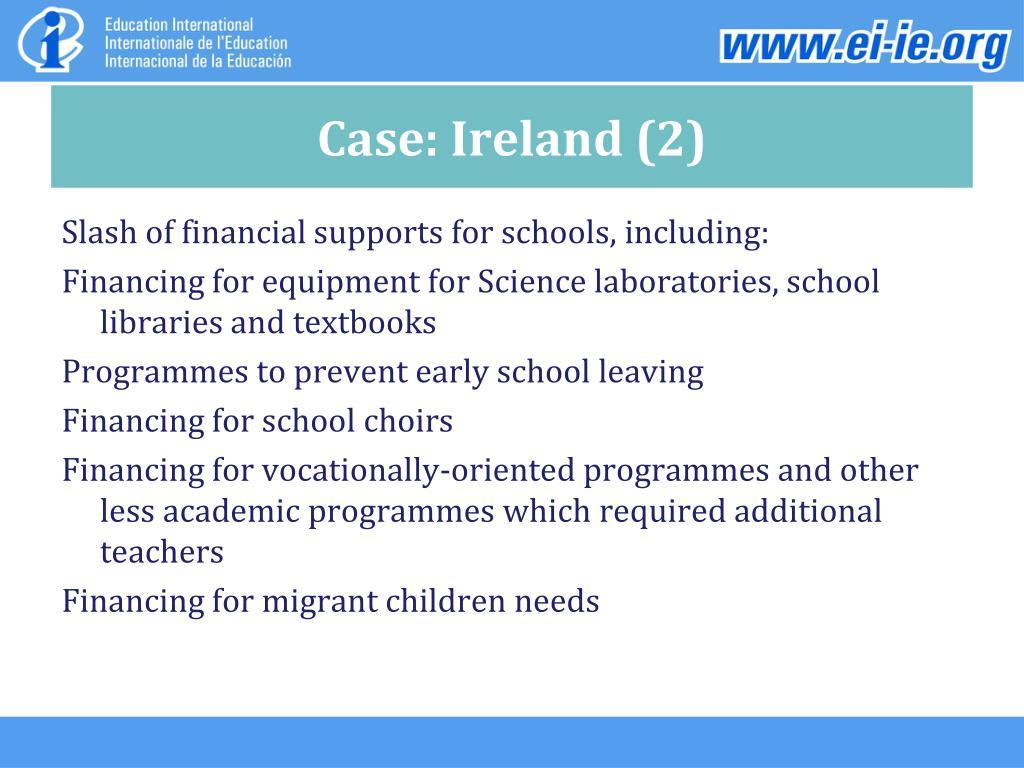 Case: Ireland (2)