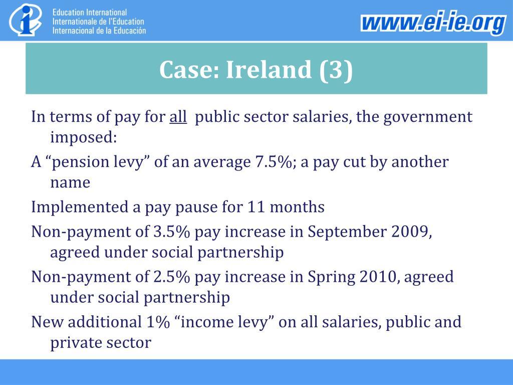 Case: Ireland (3)