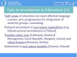 cuts in investment in education 2