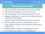 way forward 9 steps