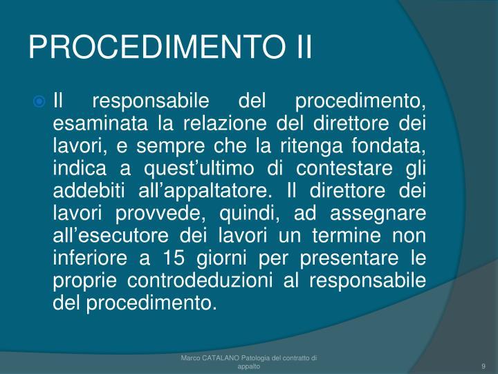 PROCEDIMENTO II