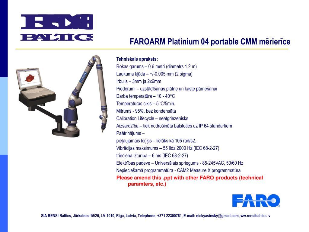FAROARM Platinium 04 portable CMM mērierīce