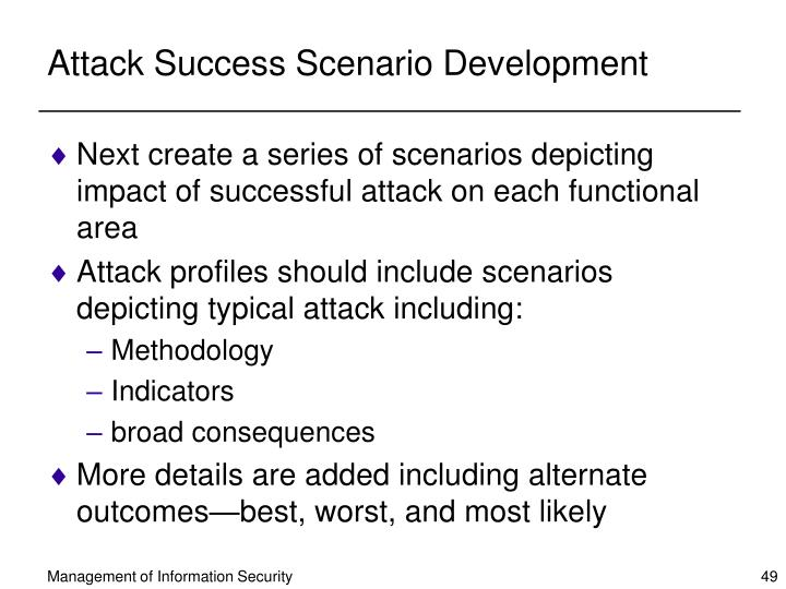Attack Success Scenario Development