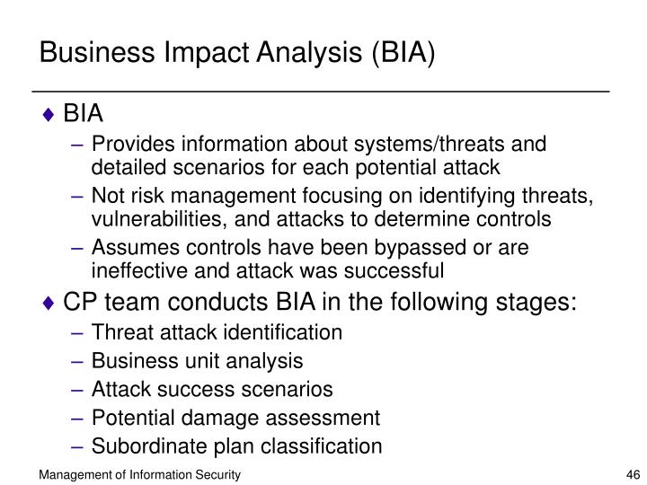 Business Impact Analysis (BIA)