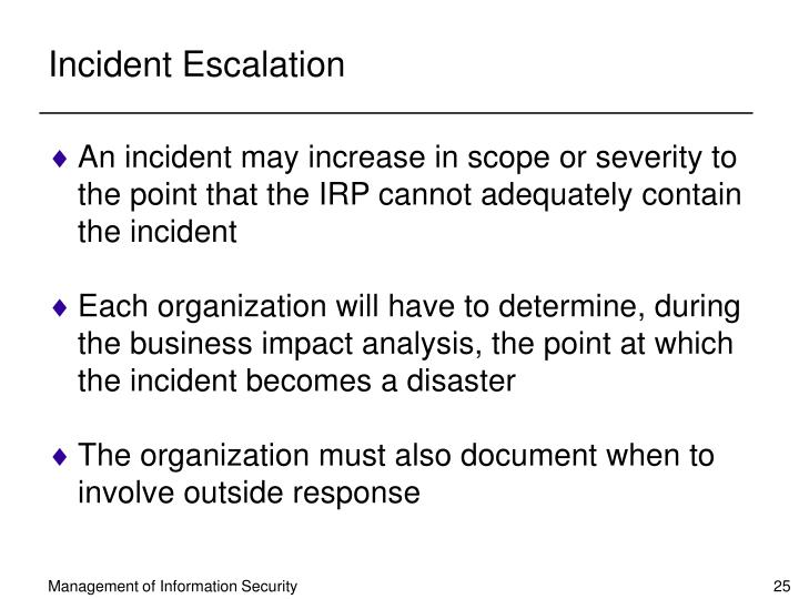 Incident Escalation