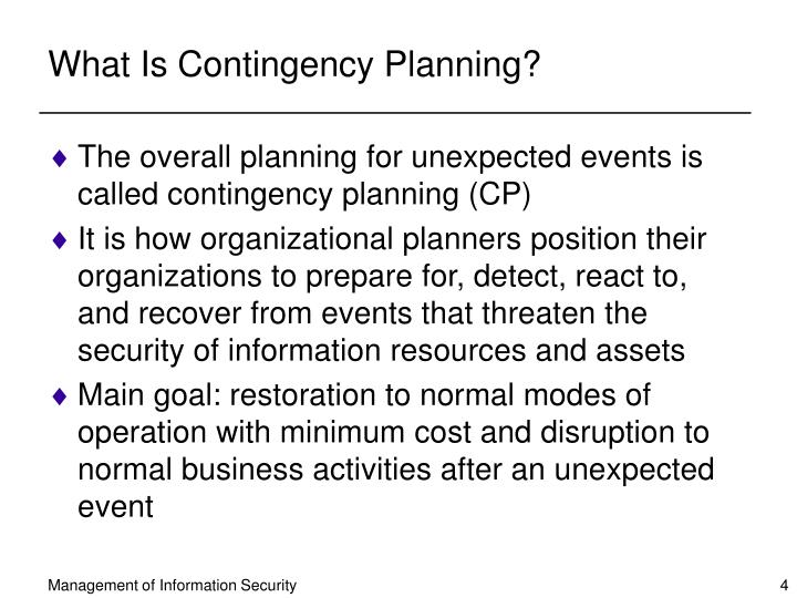 What Is Contingency Planning?