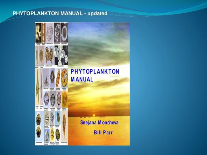 PHYTOPLANKTON MANUAL - updated