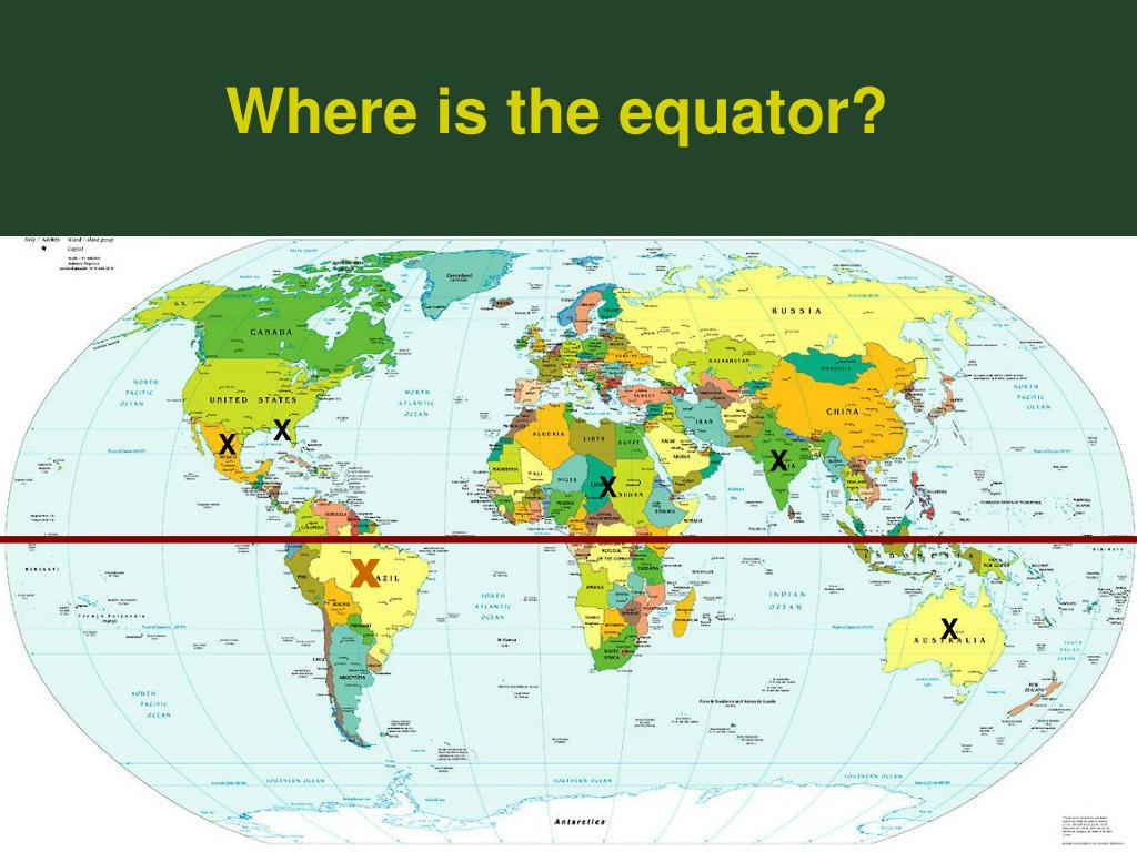 Where is the equator?
