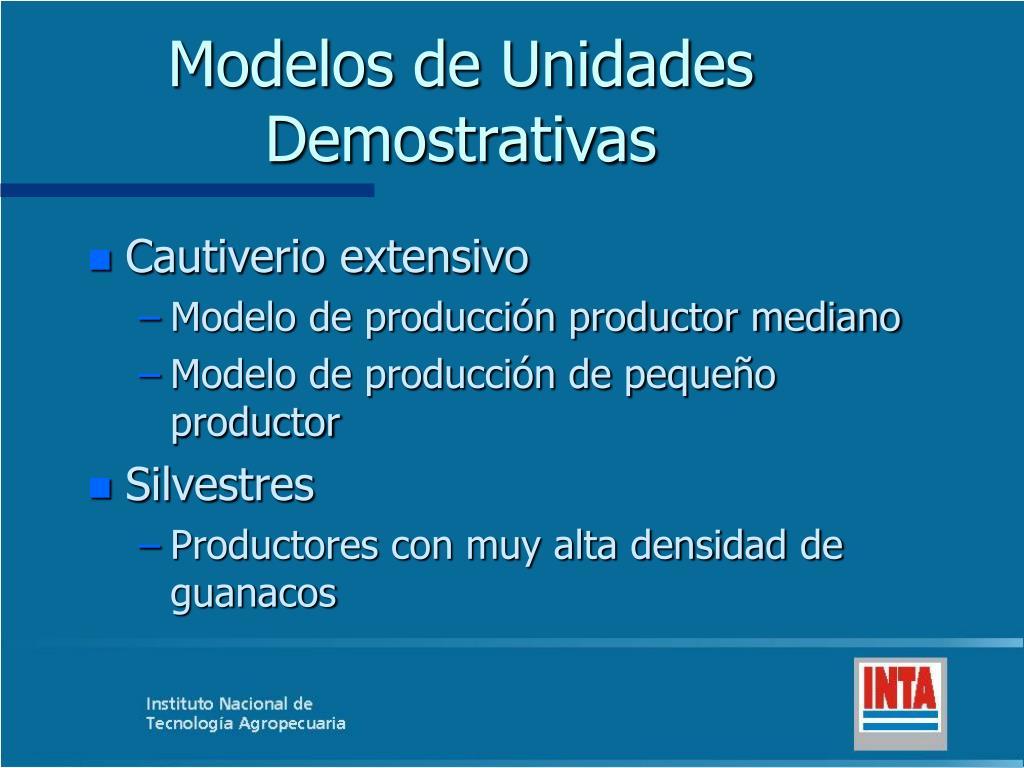 Modelos de Unidades Demostrativas