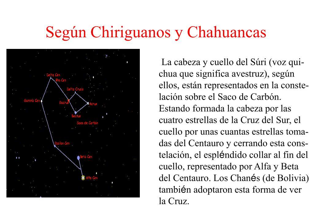 Según Chiriguanos y Chahuancas