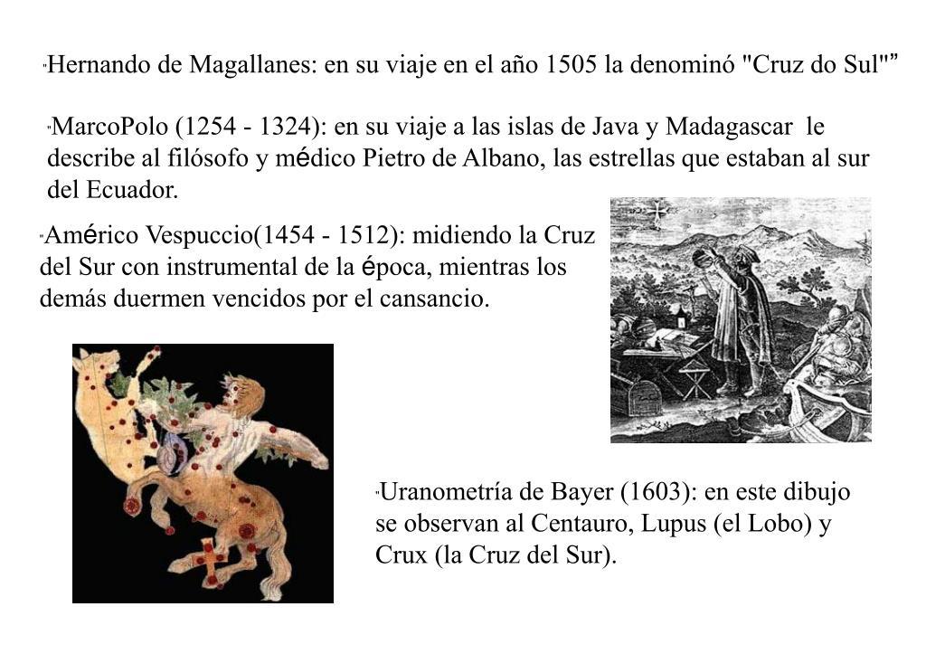 """Hernando de Magallanes: en su viaje en el año 1505 la denominó """"Cruz do Sul"""""""