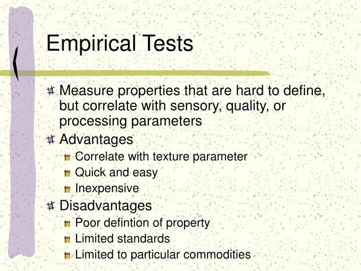 Empirical Tests
