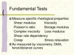 fundamental tests