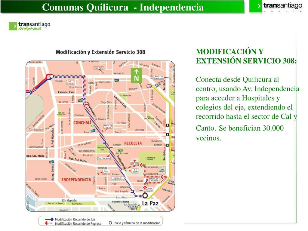 Comunas Quilicura  - Independencia