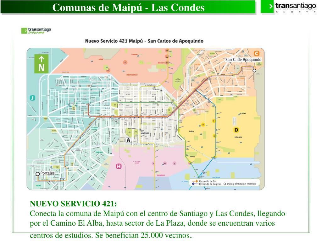 Comunas de Maipú - Las Condes