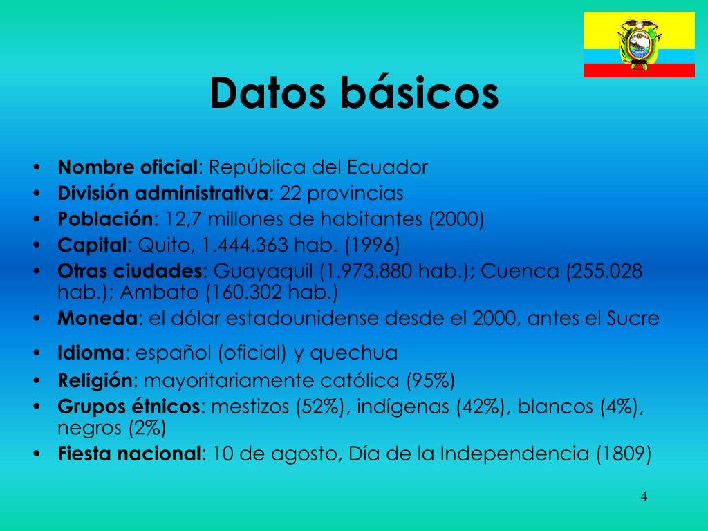 Datos básicos