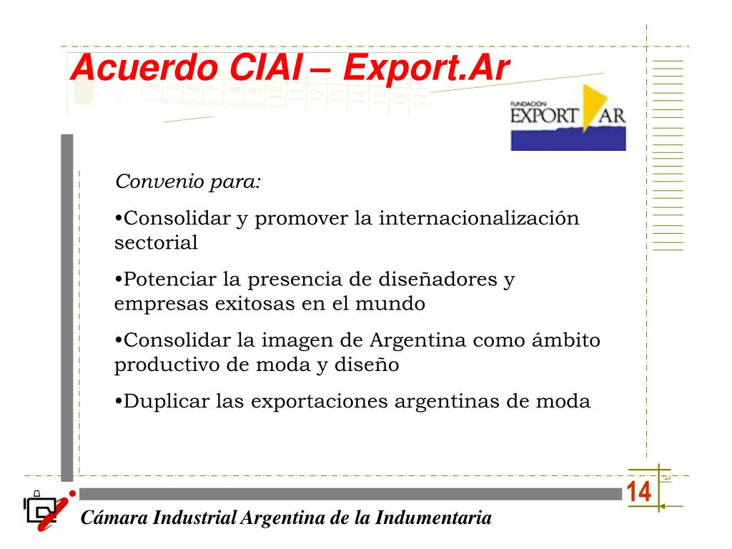 Acuerdo CIAI – Export.Ar