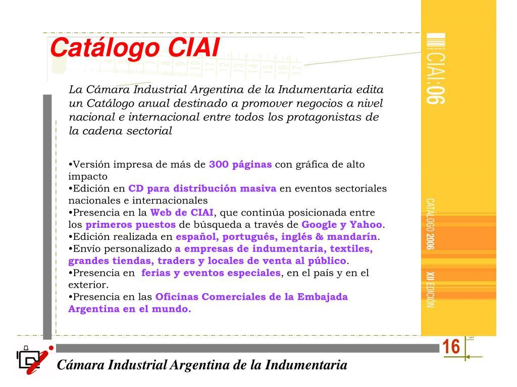 Catálogo CIAI