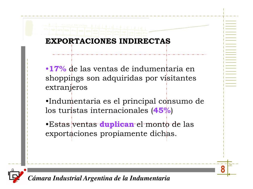 EXPORTACIONES INDIRECTAS